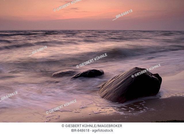 Dawn at the Baltic Sea, Ruegen, Mecklenburg-Western Pomerania, Germany, Europe
