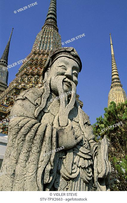 Asia, Bangkok, Chinese, Grand, Guard, Holiday, Kaeo, Landmark, Palace, Phra, Statue, Thailand, Tourism, Travel, Vacation, Wat