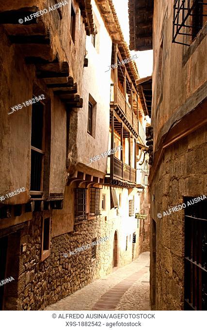 Albarracin streets and houses, Spain