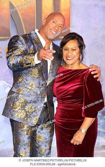 """Dwayne Johnson, Ata Johnson at Sony Pictures' """"""""Jumanji: The Next Level"""""""" World Premiere held at the TCL Chinese Theater in Hollywood, CA, December 9, 2019"""