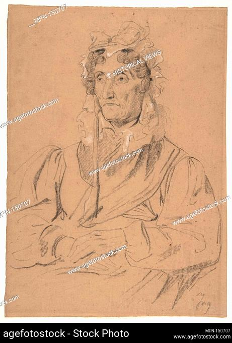 Portrait of an Old Woman. Artist: Anonymous, French, 19th century; Date: 19th century; Medium: Black chalk, heightened with white chalk