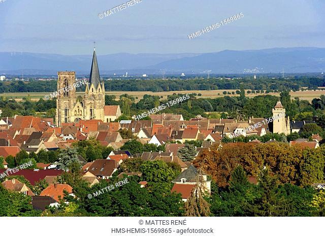 France, Haut Rhin, Alsace Wine Route, Rouffach, Notre Dame church