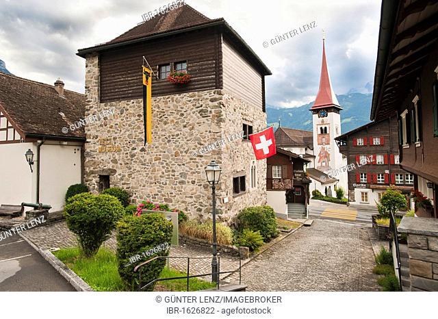 Tell Museum, Buergelen, canton of Uri, Switzerland, Europe