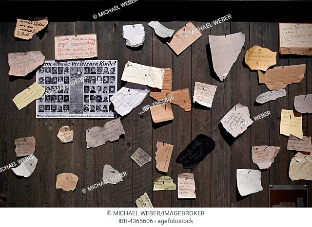 Search ads, list with names of missing relatives, exhibit, museum, interactive exhibition, The Story of Berlin, Berlin, Germany