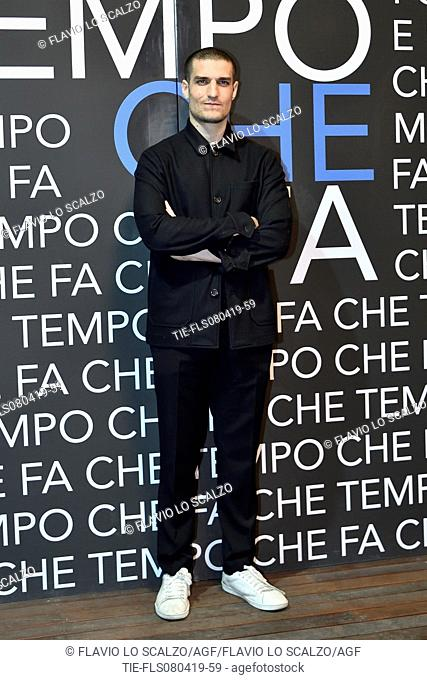 Louis Garrel during the tv show Che tempo che fa, Milan, ITALY-07-04-2019