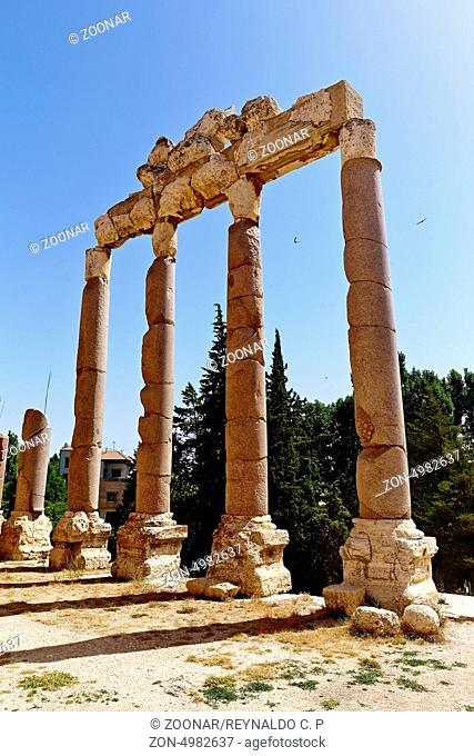 Baalbek, Lebanon. Propylaea at the entrance of the Baalbek Temple Complex . / The Roman Temples of Baalbek are some of the best preserved Roman ruins