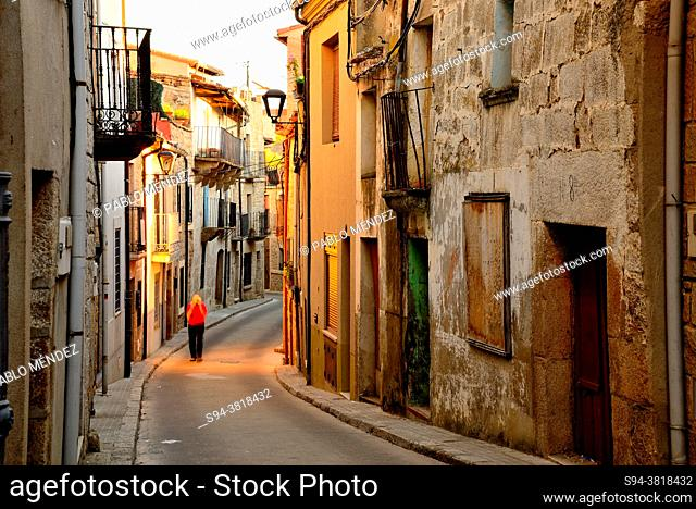 Rustic street in the old town of Fermoselle, Zamora, Spain