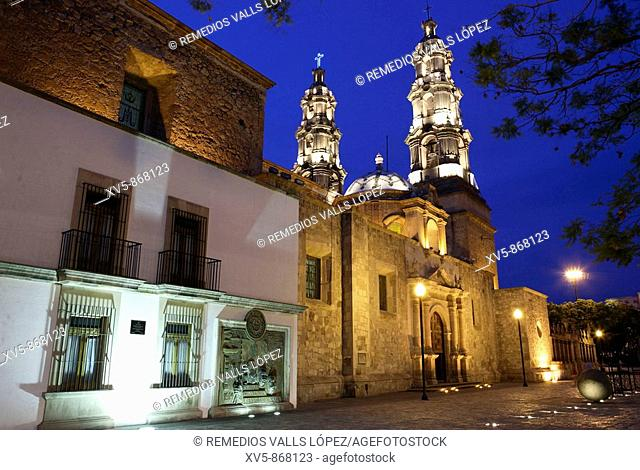 Mexico. Aguascalientes. Colonial city. Cathedral. Square of Convention