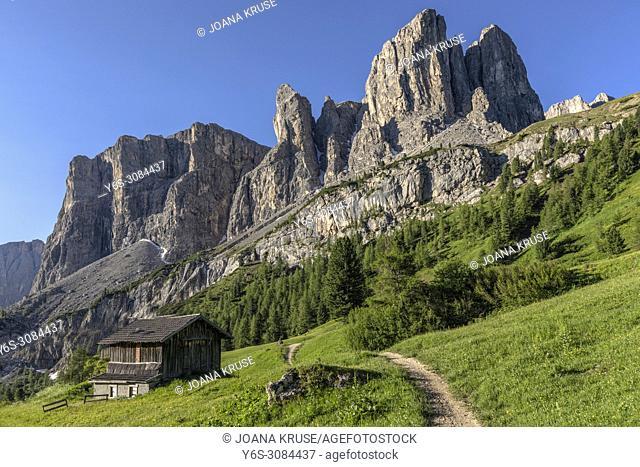 Gardena Pass, Sella Group, South Tyrol, Italy, Europe
