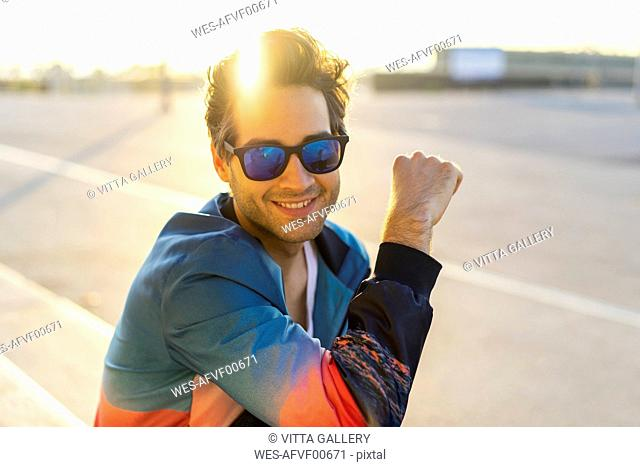 Happy man with sunglasses, portrait