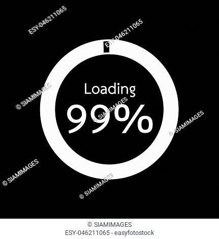 Circle Loading , Progress Bars indicator Icon Illustration design