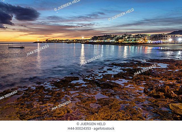 Playa Blanca sunset, Lanzarote, Canary Islands, Spain