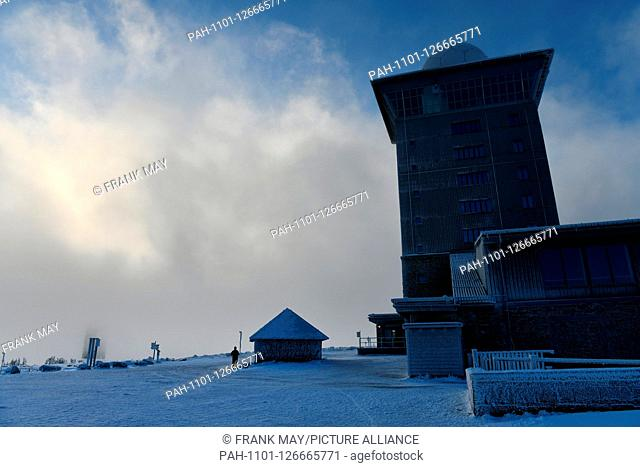 Winter on the Brocken in the Harz mountains, Germany, near city of Schierke, 14. November 2019. Photo: Frank May | usage worldwide