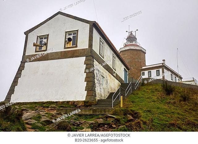 Finisterre lighthouse, Cape Finisterra, Fisterra, A Coruña, Galicia, Spain