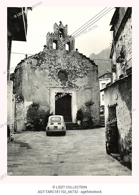 Sardinia Nuoro Oliena S. Croce, this is my Italy, the italian country of visual history, Post-medieval 15th century architecture, somewhat rustic