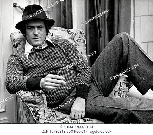 March 13, 1973 - London, England, U.K. - Portrait of Italian Director BERNARDO BERTOLUCCI, born March 16, 1941, of the controversial film
