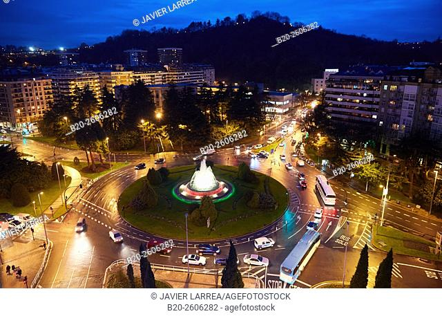 Plaza de Pio XII square, Donostia, San Sebastian, Basque Country, Spain