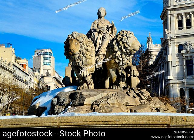 Cibeles fountain and square, Madrid, Spain