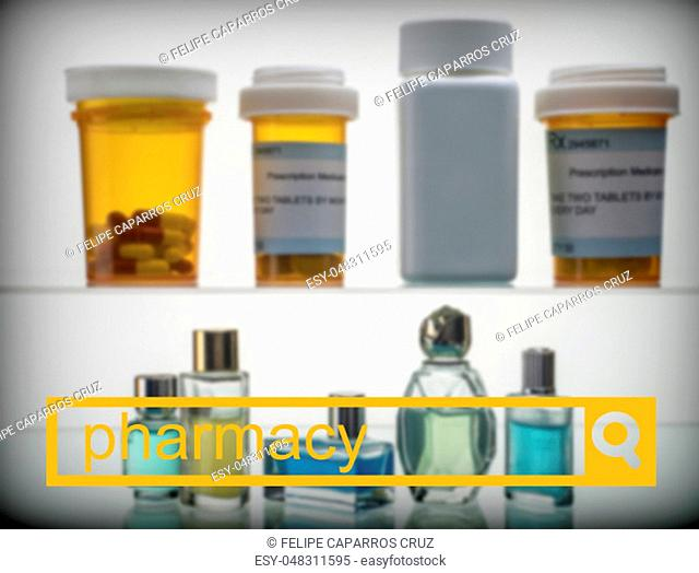 Search in the pharmacy network, conceptual image