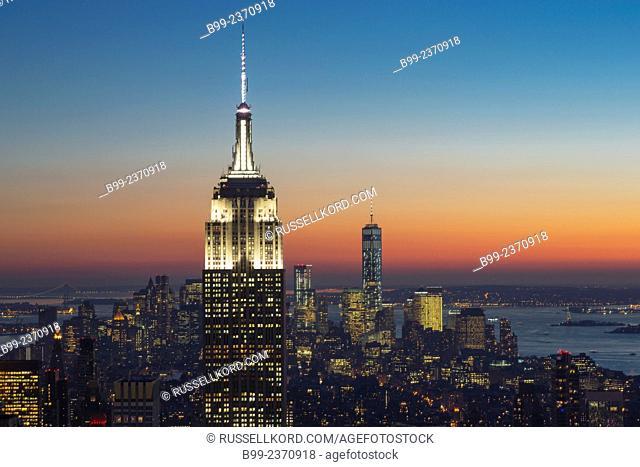 Empire State Building Midtown Skyline Manhattan New York City Usa
