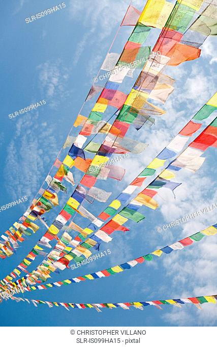 Prayer flags in Bodnath