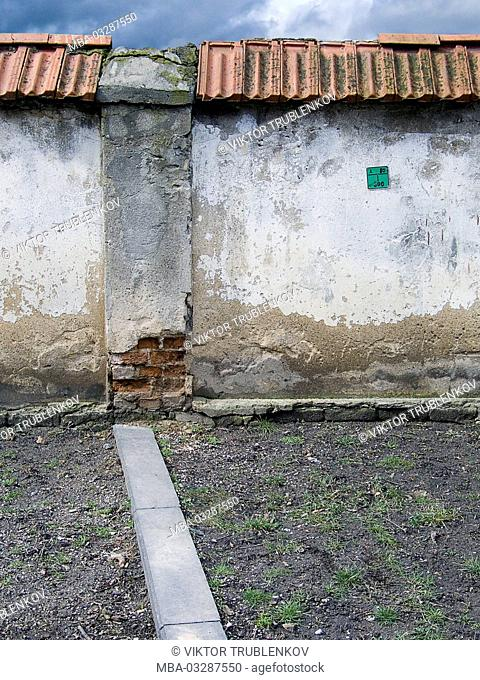 Lithuania, Vilnius, old town, wall, detail