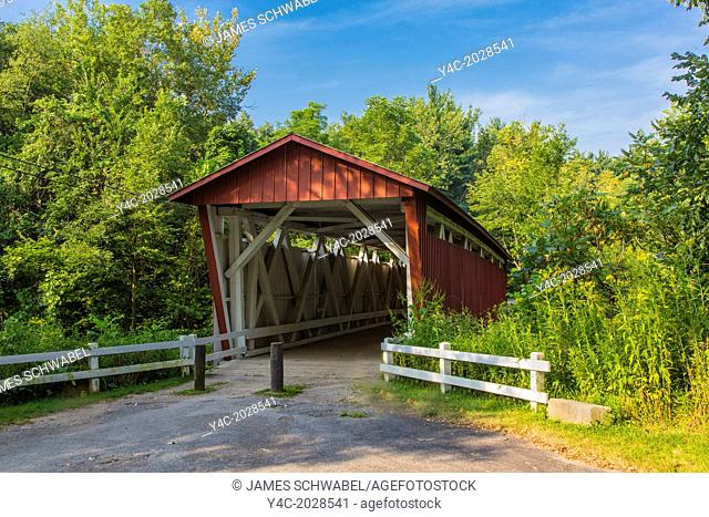 Everett Road covered bridge in Cuyahoga Valley National Park in Ohio in the United States