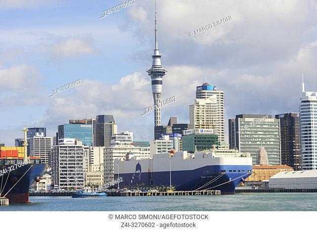 Auckland Skyline, Auckland, North Island, New Zealand