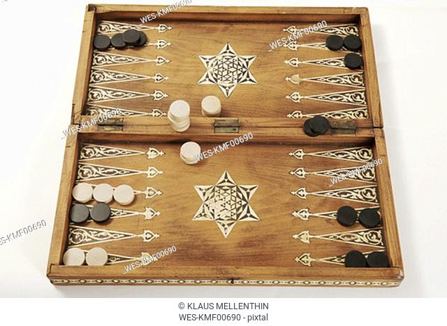 Backgammon board, close-up