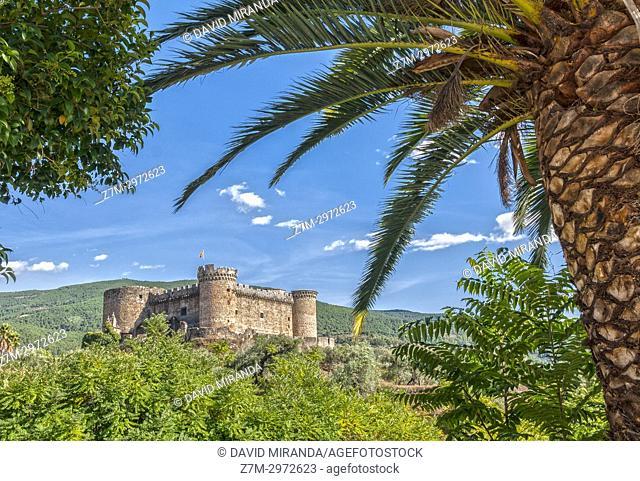 Castillo de los duques de Alburquerque. Mombeltrán. Barranco de las cinco villas. Valle del Tiétar. Provincia de Ávila, Castile-Leon, Spain