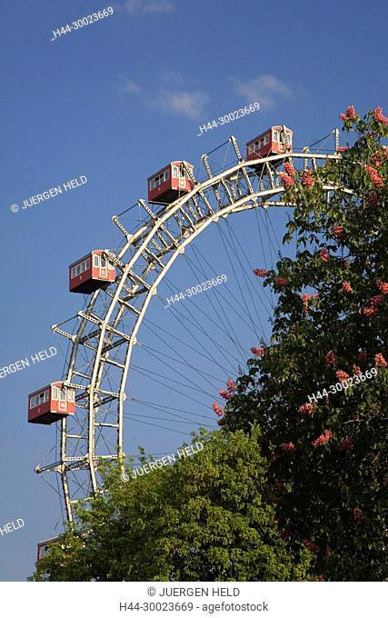 Vienna Austria Prater Big Wheel in spring