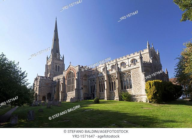 The church of St John the Baptist, Our Lady & St Laurence in Thaxted, Essex, England