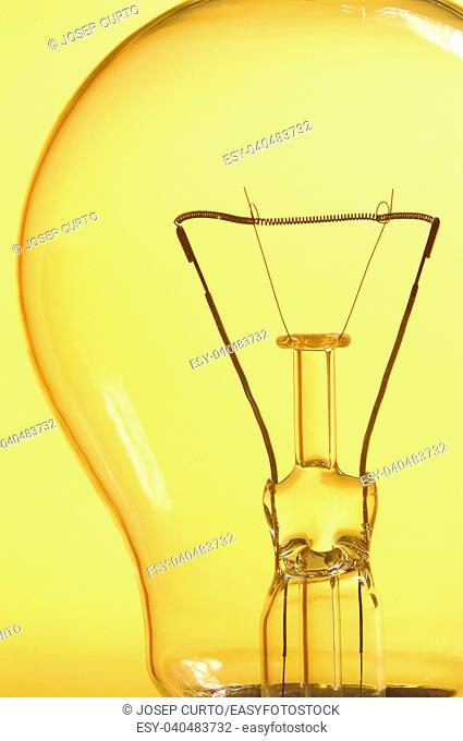 close up of a ligth bulb