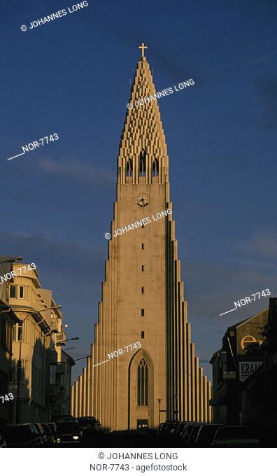 The steeple of Hallgrimskirkja