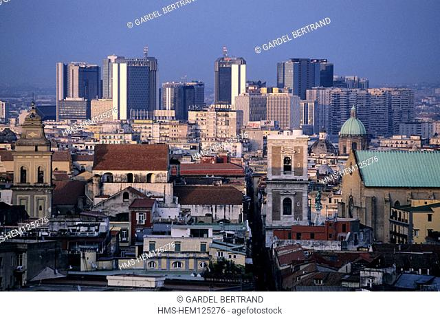 Italy, Campania, Naples, view of the downtown