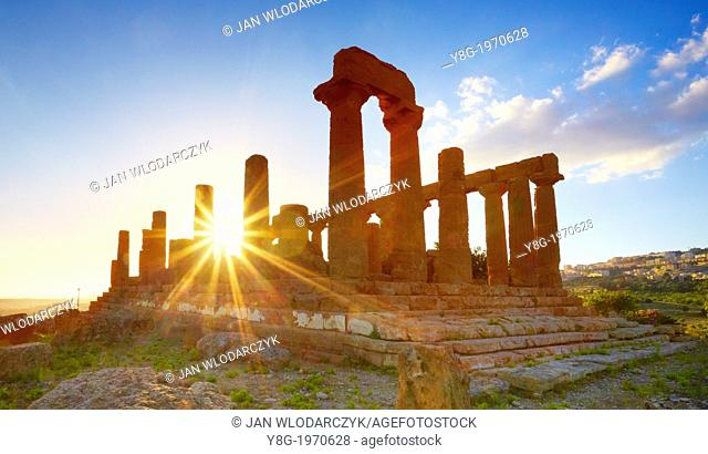 Temple of Hera in Valley of Temples (Valle dei Templi), Agrigento, Sicily, Italy UNESCO