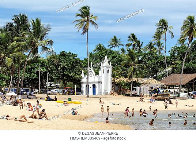 Brazil, Bahia State, Praia do Forte, Coconuts Coast, chapel of San Francisco