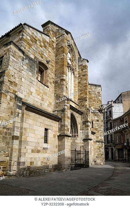 Church San Juan Bautista at Plaza Mayor in Zamora, Castile and Leon, Spain