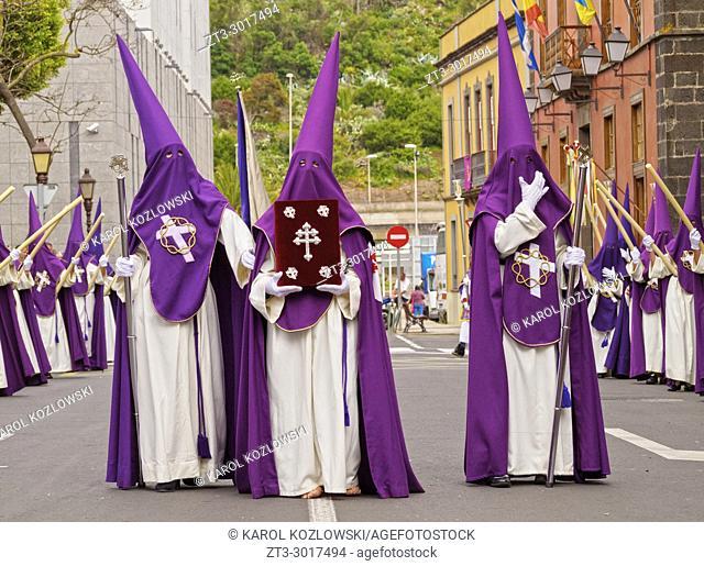 Traditional Easter Holy Week Procession in San Cristobal de la Laguna, Tenerife Island, Canary Islands, Spain