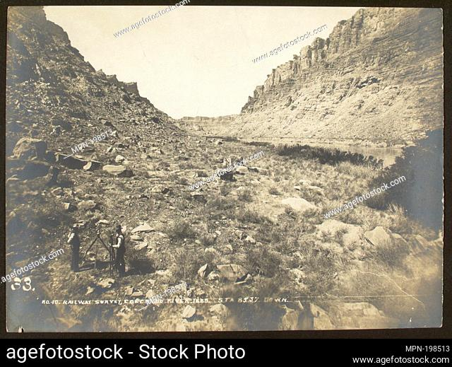 Broad bottom sands, Cataract Canyon. High water mark on left of picture. Stanton, Robert Brewster, 1846-1922 (Creator). Robert Brewster Stanton papers
