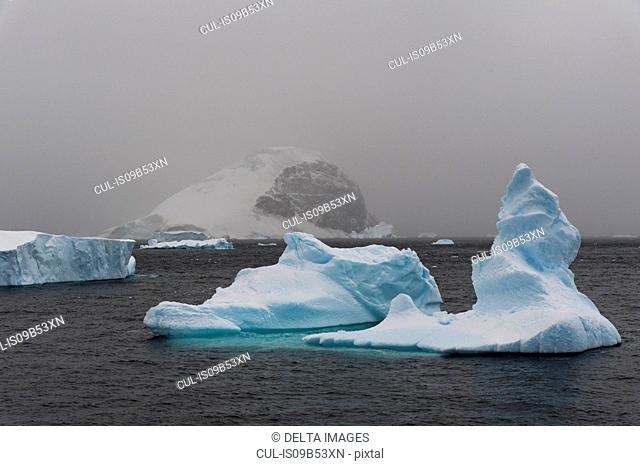 Icebergs in Errera Channel, Antarctica