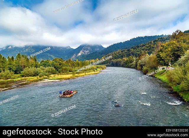 View of Dunajec River near Cerveny Klastor, Slovakia