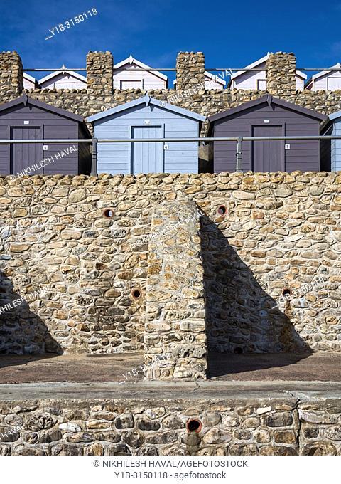 Beach huts, Charmouth, Dorset, UK