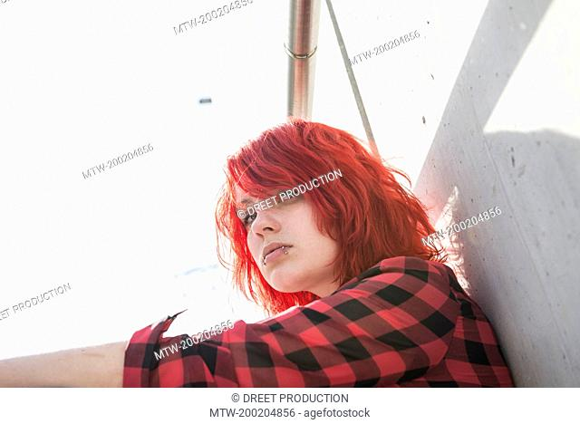 Defiant punk girl Stock Photos and Images   age fotostock