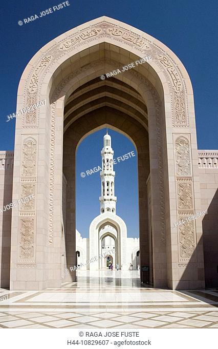 Oman, Arabia, East, Maskat town, city, Muscat, sultan Qaboos mosque, architecture, Islam, religion