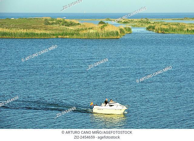 Mouth of the Ebro River. Ebro Delta Natural Park. Tarragona, Spain