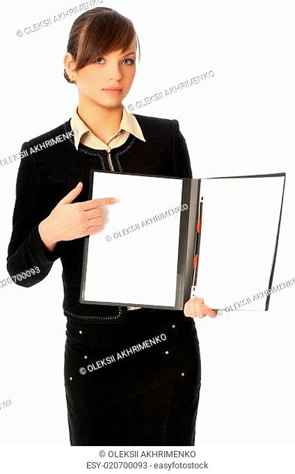Blank paper in file