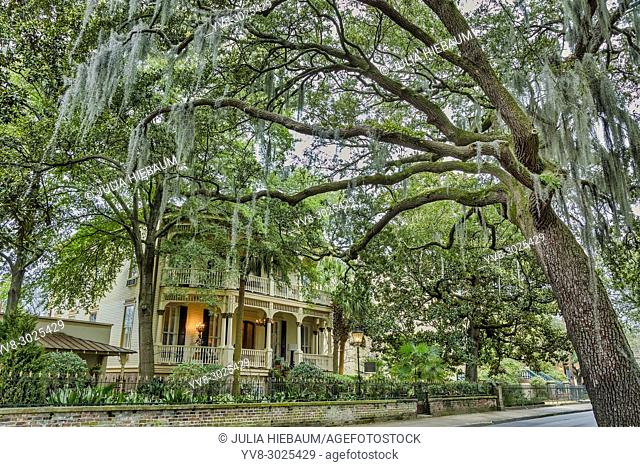 Magnolia hall building in Savannah, Georgia
