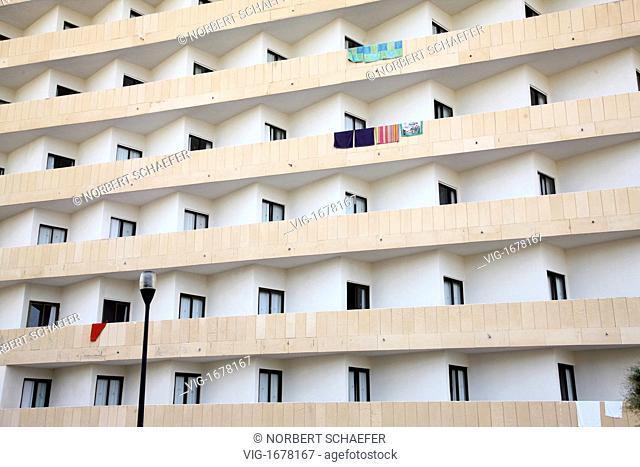 Facade of a hotel in Cala Ratjada Mallorca - CALA RAJADA, MALLORCA, SPAIN, 01/01/2009