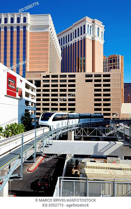 The Monorail. Las Vegas, Nevada, USA